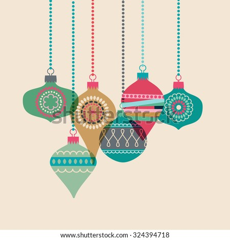 Christmas baubles, eps10 vector - stock vector