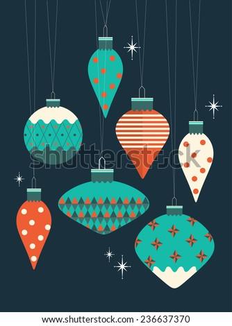 christmas baubles vector/illustration - stock vector