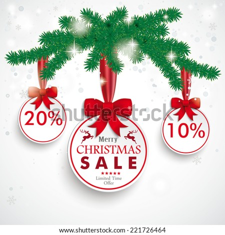 Christmas baubles with snowflakes on the white background. Eps 10 vector file. - stock vector