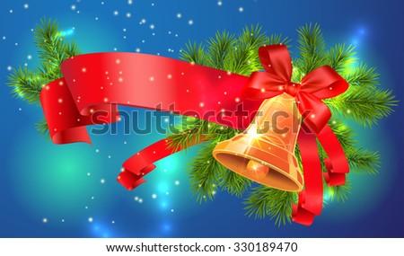 Christmas bell - stock vector