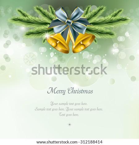 Christmas Bells Background. - stock vector