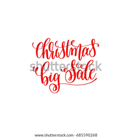 Red Hand Lettering Inscription Christmas 2018 Stock Illustration ...