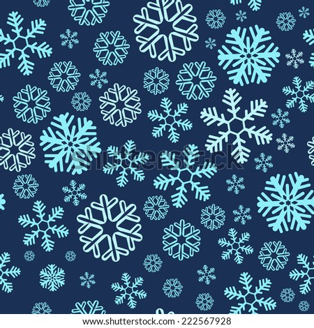 Christmas blue snowy abstract background  - stock vector