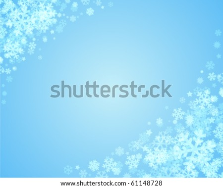 Christmas blue vector background