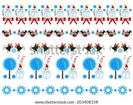 Christmas borders. - stock vector