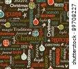 Christmas bright seamless pattern - stock vector