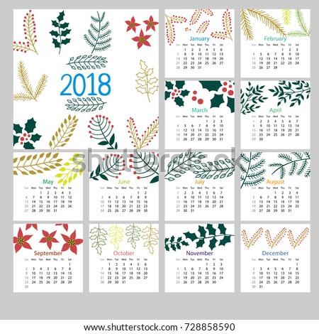 christmas calendar 12 months 2018