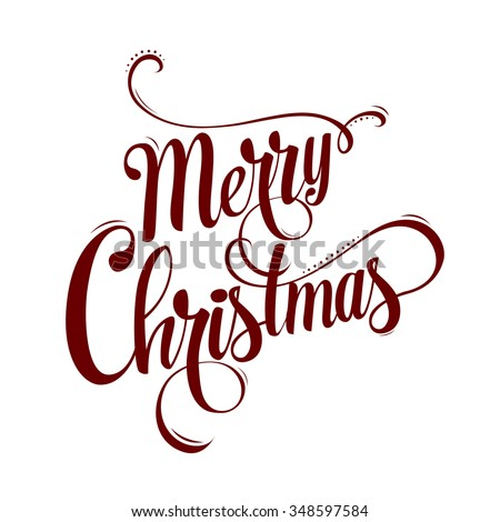 Christmas calligraphy. Hand drawn design elements. Vector illustration. Hand drawing font. new year banner in a minimalist style. The inscription is handmade. Christmas card - stock vector