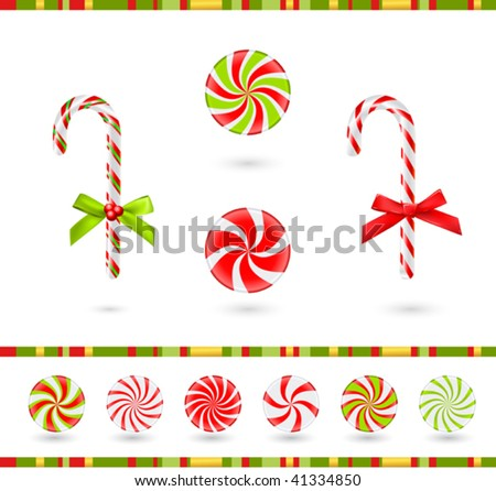 christmas candies set (vector) - stock vector