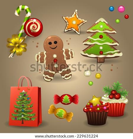 Christmas candy - stock vector