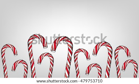Candy Cane Isolated Vector Illustration Stock Vector 155608049