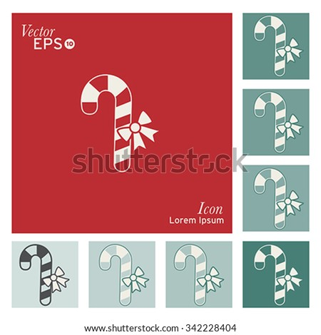 Christmas candy icon - vector, illustration. - stock vector