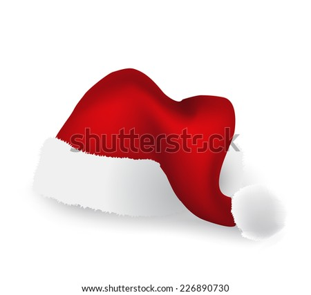 Christmas cap isolated over white background - stock vector