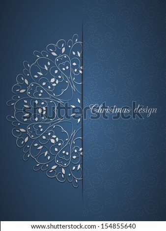 Christmas card can be used for website decoration, icon or holiday design - stock vector