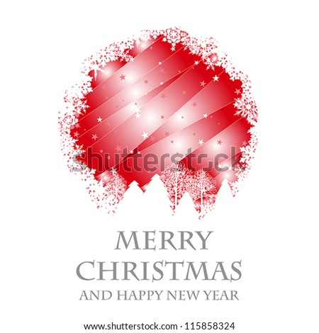 christmas card. christmas card concept - stock vector