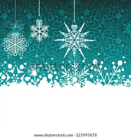 Christmas Card / Christmas Card Vector / Christmas Card Design / Christmas Card Frame / Christmas Card Green / Christmas Card Border / Christmas Day / Christmas Decoration / Christmas Background - stock vector