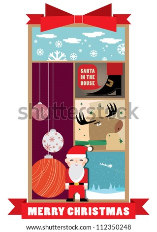 Christmas CArd/Christmas Print Template/Poster/Background/Graphics - stock vector