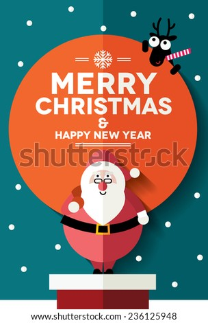 Christmas card design/ cover/ wallpaper - stock vector