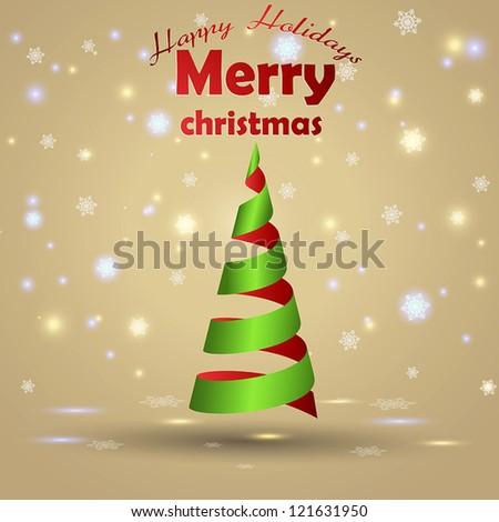 Christmas card design. Vector - stock vector