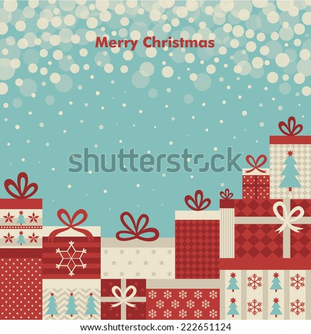 christmas  card design. vector illustration - stock vector