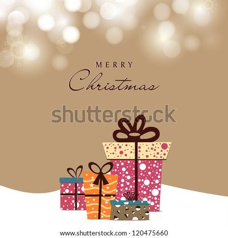 Christmas Card. EPS 10. - stock vector