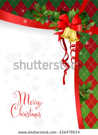 Christmas card  for design, background, invitation, banner, leaflet and so on. - stock vector