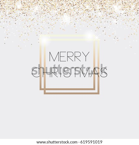 Christmas card invitation vip gold glitter stock vector 619591019 christmas card invitation vip gold glitter background vector illustration stopboris Images
