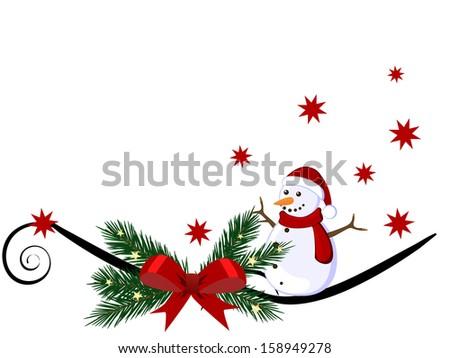Christmas card - vector - stock vector
