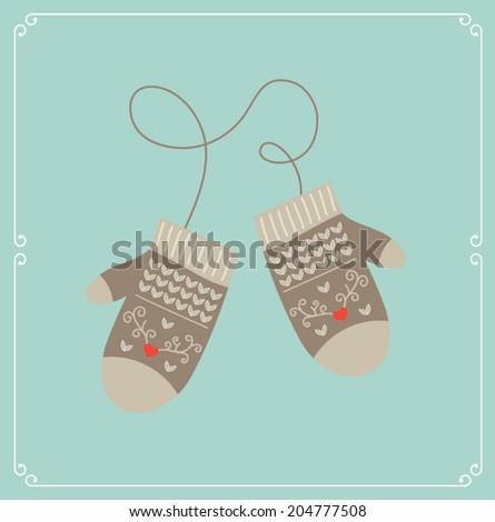 Christmas card. Vector illustration - stock vector