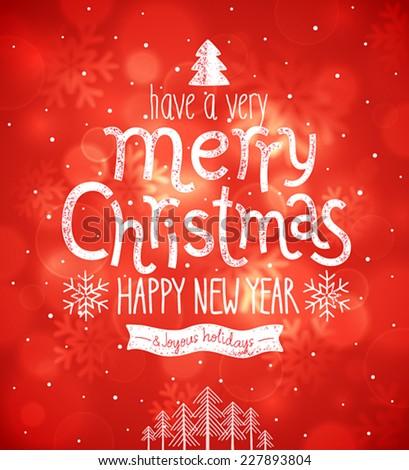 Christmas card. Vector illustration. - stock vector