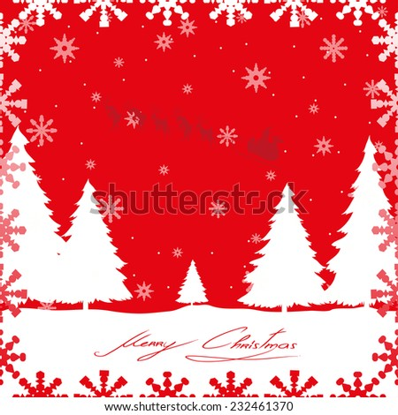 Christmas card.Vector illustration of decorated Christmas tree.Christmas background - stock vector