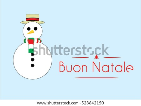 Christmas card funny snowman italy merry stock vector 523642150 christmas card with a funny snowman from italy with merry christmas greeting text in italian language m4hsunfo