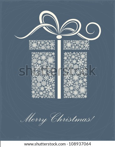 Christmas card with a surprise - stock vector