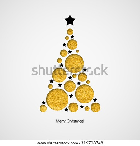 Christmas card with Christmas tree. Vector illustration  EPS 10 - stock vector