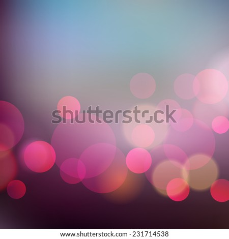 Christmas card with retro holiday blurred lights - stock vector