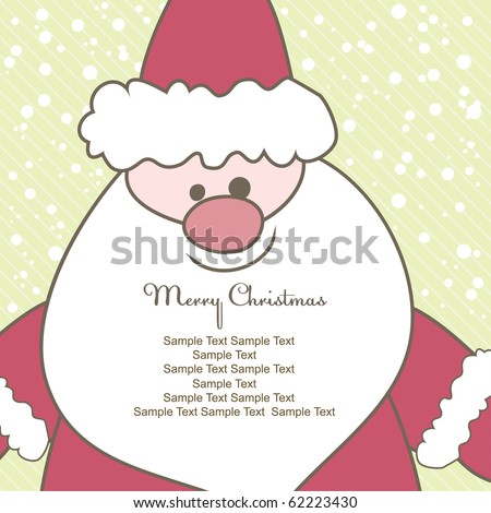 Christmas card with Santa for text. Vector illustration - stock vector