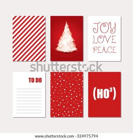 Christmas Cards Set - stock vector
