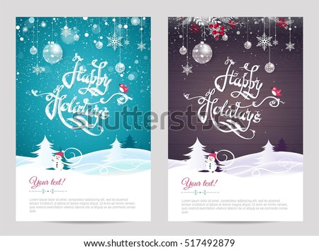 holiday card design