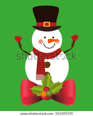 Christmas cartoon graphic design, vector illustration eps10