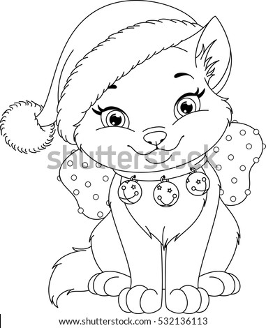 Christmas Coloring Pages With Cats Coloring Pages