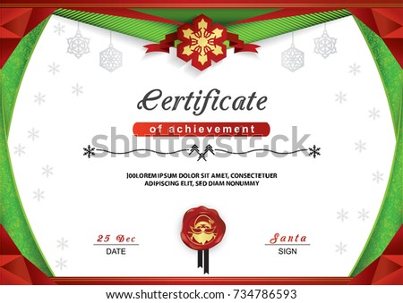 christmas certificate border
