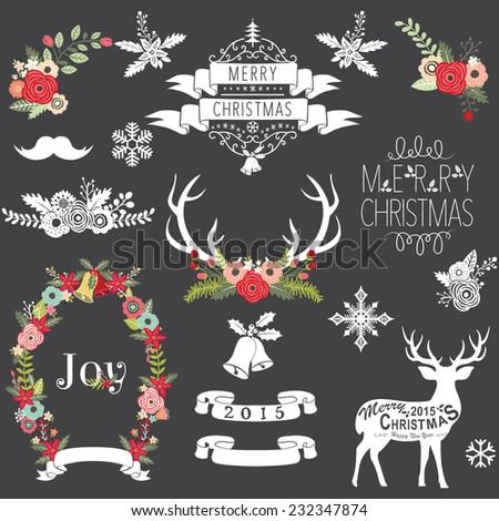 Christmas Chalkboard - stock vector