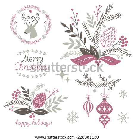 Christmas Clip Art  - stock vector