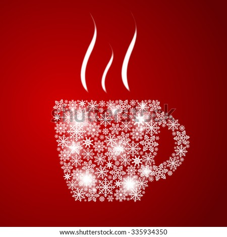 Christmas Coffee Cup Background Vector Illustration EPS10 - stock vector