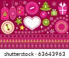Christmas collection for scrapbook. Vector illustration. - stock vector