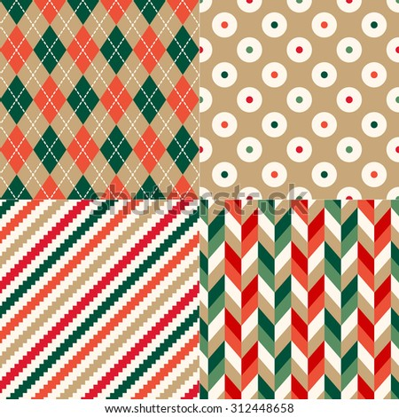 christmas color geometric pattern