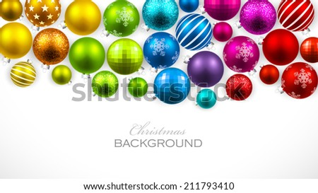 Christmas colored balls - stock vector