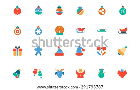 Christmas Colored Vector Icons