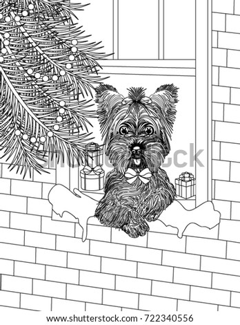 Christmas Coloring Book Page Stock Vector (Royalty Free) 722340556 ...