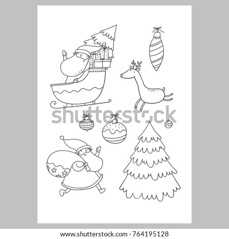 Coloring Book Letter To Santa
